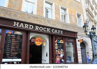 Paris, France - May, 2015: Hard Rock Cafe Paris, France.