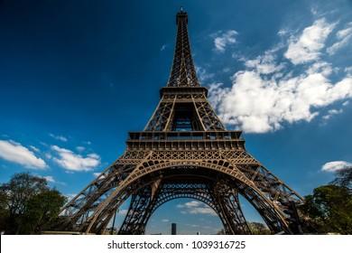 Paris, France; may 2016: Eiffel tower