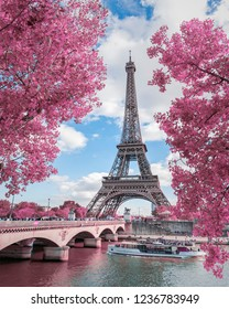 Paris / France - May 21 2016 : Spring time in Eiffel