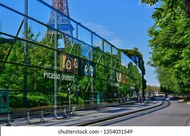 Paris; France - may 21 2017 : the quai branly Jacques Chirac museum