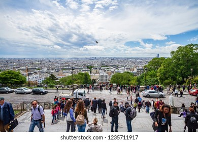 Paris, France - May 22, 2014: Paris view from Sacre Coeur
