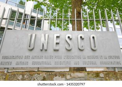 PARIS FRANCE - MAY 22, 2019: UNESCO headquarter Paris France