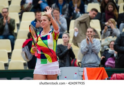 PARIS, FRANCE - MAY 22 : Anastasia Pavlyuchenkova in action at the 2016 French Open