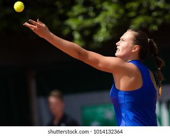 PARIS, FRANCE - MAY 23 : Aryna Sabalenka at the 2017 Roland Garros tennis Grand Slam tournament
