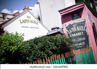 PARIS, France , May  24 2017, Old Cabaret Au Lapin Agile in the Montmartre district