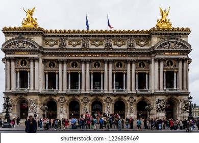Paris, France - May 24,2011: facade of Academie Nationale de Musique
