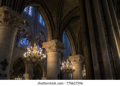 Paris France - May 26 2014 - Notre-Dame de Paris also known as Notre-Dame Cathedral or simply Notre-Dame, is a medieval Catholic cathedral on the Île de la Cité in the fourth arrondissement of Paris.