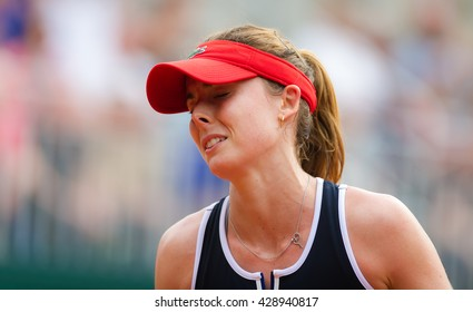 PARIS, FRANCE - MAY 26 : Alize Cornet in action at the 2016 French Open