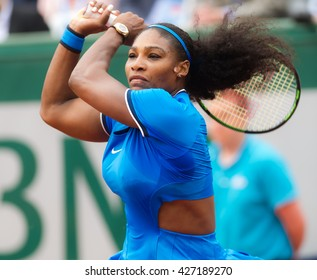 PARIS, FRANCE - MAY 26 : Serena Williams in action at the 2016 French Open