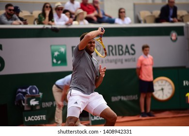 Paris, France - May 27 2019: Jo-Wilfried Tsonga playing in Roland Garros 1st Round