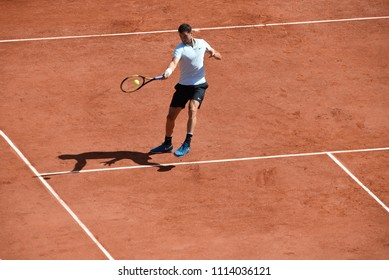 PARIS, FRANCE - MAY 27: Grigor Dimitrov (BUL) competes in round 1 at the The French Open on May 27, 2018 in Paris, France.