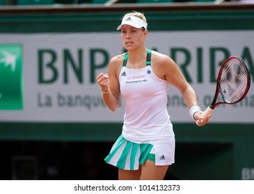 PARIS, FRANCE - MAY 28 : Angelique Kerber at the 2017 Roland Garros Grand Slam tennis tournament