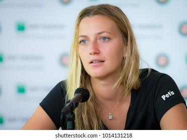 PARIS, FRANCE - MAY 28 : Petra Kvitova at the 2017 Roland Garros Grand Slam tennis tournament