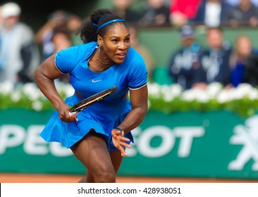 PARIS, FRANCE - MAY 28 : Serena Williams in action at the 2016 French Open
