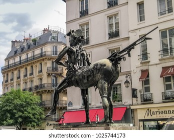PARIS, FRANCE - MAY 29, 2006: Art Nouveau sculpture The Centaur created by French artist Cesar Baldaccini at the corners of the Rue de Sevres and Rue du Cherche-Midi on May 29, 2006 in Paris, France.