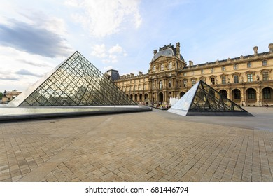 Paris, France - May 29, 2017: The Louvre Museum (The Grand Louvre) in Paris is one of the world's largest museums and a historic monument. Paris, France.