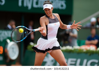 PARIS, FRANCE - MAY 29 : Garbine Muguruza at the 2017 Roland Garros Grand Slam tennis tournament
