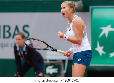 PARIS, FRANCE - MAY 29 : Shelby Rogers in action at the 2016 French Open