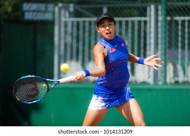 PARIS, FRANCE - MAY 29 : Shuai Zhang at the 2017 Roland Garros Grand Slam tennis tournament