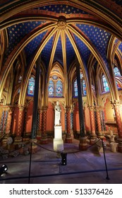 Paris, France - May 3, 2012: Interior of Sainte-Chapelle in Paris of France.