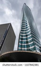 PARIS, FRANCE - MAY 30, 2018: Skyscrapers in Business District of La Defense, Paris