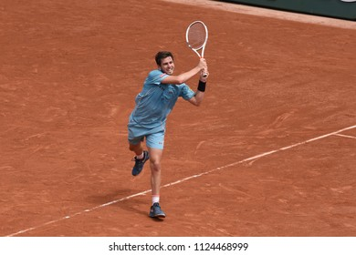 PARIS, FRANCE - MAY 31:  Cameron Norrie (GBR) competes in round 3 at the The French Open on May 31, 2018 in Paris, France.
