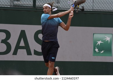 PARIS, FRANCE - MAY 31:  Ruben Bemelmans (BEL) competes in round 3 at the The French Open on May 31, 2018 in Paris, France.