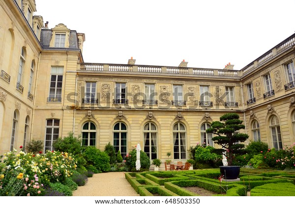 Paris, France - May 31th 2014 : The garden of the Élysée Palace, the official residence of the President of the French Republic.
