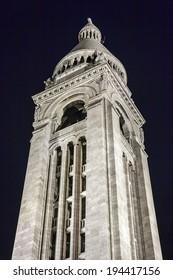 Paris, France, May 4, 2013 . Sacre Coeur View at night