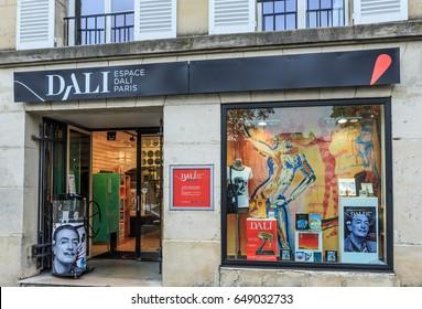 PARIS, FRANCE - MAY 6, 2017: Paris Museum of Salvador Dali on 11 Rue Poulbot, Paris, France