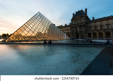 Paris, France - May 7, 2016: The Louvre Museum is one of the world's largest museums and a historic monument. A central landmark of Paris, France.