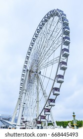 PARIS, FRANCE - MAY 7, 2017: The Big Wheel (Roue de Paris) at Place de la Concorde, Paris, France