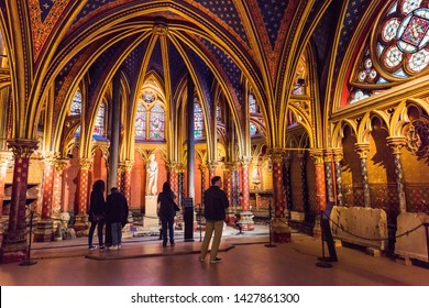 PARIS, FRANCE - MAY 8, 2017: Notre Dame Cathedral interior view. Notre Dame is a world famous cathedral. Paris, France.