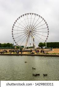 PARIS, FRANCE - MAY 8, 2017: Concorde Square (Place de la Concorde) at Paris, France. Concorde Square at the eastern end of the Champs-Elysees.