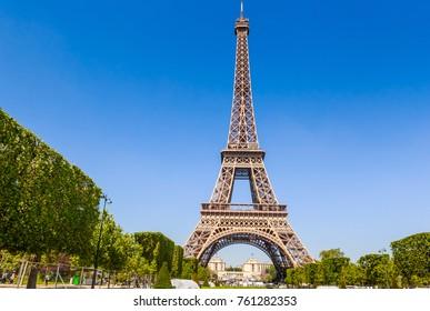 PARIS, FRANCE - MAY 9, 2017: Eiffel Tower in Paris, France