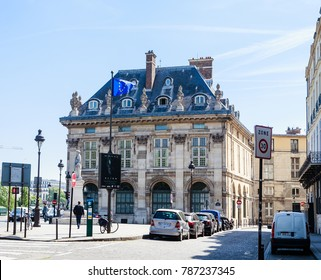 PARIS, FRANCE - MAY 9, 2017: The building of French Institute in the historical centre of Paris
