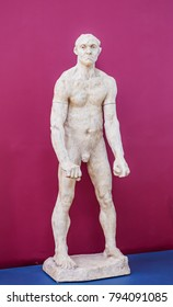 PARIS, FRANCE - MAY 9, 2017:  Musee d'Orsay. Jean d'Aire by Auguste Rodin