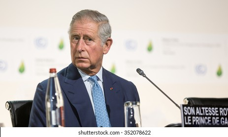 PARIS, FRANCE - Nov 30, 2015: Charles, Prince of Wales at the 21st session of the UN Conference on Climate Change