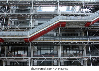 PARIS, FRANCE - NOVEMBER 07: Centre Georges Pompidou(1977) was designed in style of high-tech architecture, Paris, France, on November 07,2012. It houses library, National Art Modern museum and IRCAM.