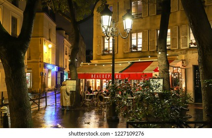PARIS, France - November 10 , 2018: Beaurepaire is Basque restaurant located in the Notre Dame neighborhood in Paris, France.