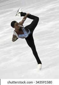 PARIS, FRANCE - NOVEMBER 16, 2013: Mae Berenice MEITE of France performs free program at Trophee Bompard ISU Grand Prix at Palais Omnisports de Bercy.