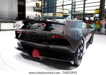Paris France Oct 10 Lamborghini Sesto Stock Photo Edit Now