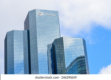 Paris, France - Oct 11, 2014: Glass building from the company Total in Paris