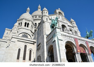 PARIS FRANCE OCT 17: The Basilica of the Sacred Heart of Paris is a Roman Catholic church and minor basilica, dedicated to the Sacred Heart of Jesus, in Paris France oct, 17 2014