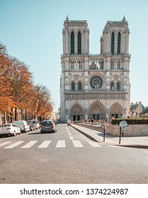 PARIS, FRANCE - OCTOBER 03, 2011 : View of the Notre Dame Cathedral.  The historical cultural and religious heart of the capital of France