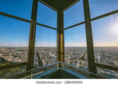 PARIS, FRANCE - OCTOBER 05, 2016: Aerial view of Paris, France. View from Montparnasse Tower