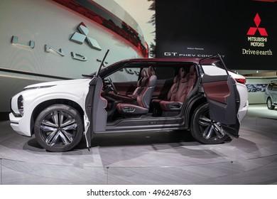 PARIS, FRANCE - OCTOBER 10, 2016: Mitsubishi GT-PHEV concept car is revealed at Paris Motor Show.