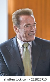 PARIS, FRANCE - OCTOBER 11, 2014 : Arnold Schwarzenegger at Paris city hall On the occasion of the World Summit of Regions on Climate Change ( R20 )