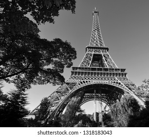 PARIS, FRANCE OCTOBER 12: Close up of the Eiffel Tower (Tour Eiffel) on october 12, 2013 in Paris, France. It was built between 1887 and 1889 for the World's Fair (Expo 1889).