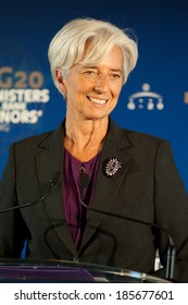 PARIS, FRANCE - OCTOBER 15, 2011 : Christine Lagarde in french Ministry of economy during the G20 Finances in Paris.